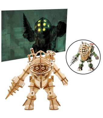 Bioshock Big Daddy Poster and 3D Wood Model Kit - Build, Paint and Collect Your Own Wooden Model - Great for Teens and Adults,17+ - 5""