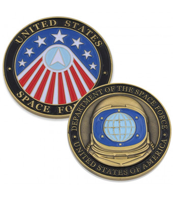 WizardPins Department of The Space Force USA (1 Antique Gold Coin)