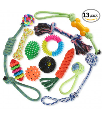 Rolandal Dog Toys - Dog Rope Toys-Dog Chew Toys - Puppy Teething Toys- Puppy Chew Toys - Puppy Toys - Small Dog Toys - Chew Toys - Dog Toy Pack - Tug Toy - Dog Toy Set - Washable Cotton Rope for Dogs