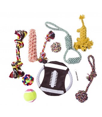 MAXIM1992 Dog Toys Set - Dog Chew Toys and Ball Ropes - Dog Training Toys for Small Medium and Large Dogs