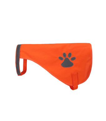 A-SAFETY Dog Reflective Vest, Hi Vis Safety Vest Keeps Dogs Visible On and Off Leash in Both Urban and Rural Environments OrangeYellow, 20/25/30/35/40/45cm