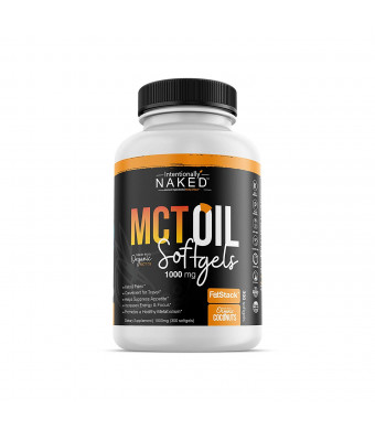 300 Organic C8/C10 MCT Oil Capsules - Keto, Paleo, Low Carb  Faster Metabolism, Ketosis, Sustainable Focus and Energy  Great for Travel - Flavorless, Non-GMO, BPA Free Bottle, 1000mg's per Softgel
