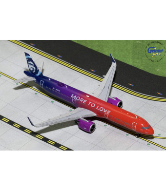 GeminiJets Alaska Airlines A321neo N927VA More to Love 1:400 Scale Diecast Model Airplane