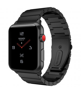 TiMOVO Compatible Watch Band Replacement for Apple Watch 38mm Series 1 / 2 / 3, Premium Stainless Steel Strap Metal Wristband, Black