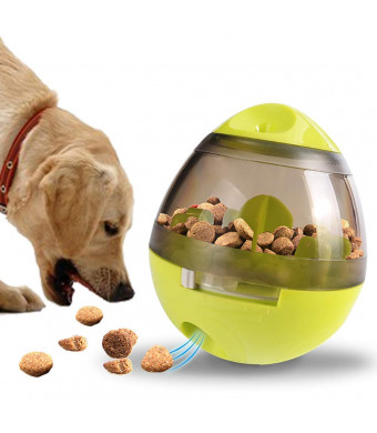 Dream-C Pet Food Ball, Treat Ball for Pet Increases IQ Interactive, Kibble Dispensing Leakage Chew Toys, Slow Feeder Tumbler Balls Training Puzzle Shaking Toys for Dogs Puppy and Cats