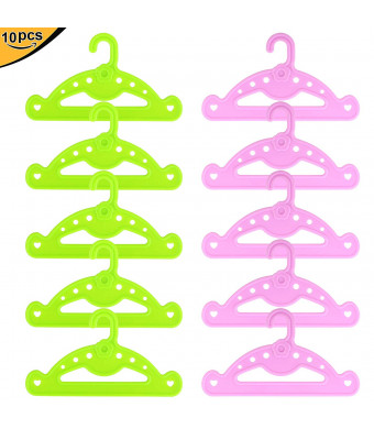 """ZITA ELEMENT 10 Pcs Clothes Hangers for American 18"""" Girl Doll, Our Generation Dolls 