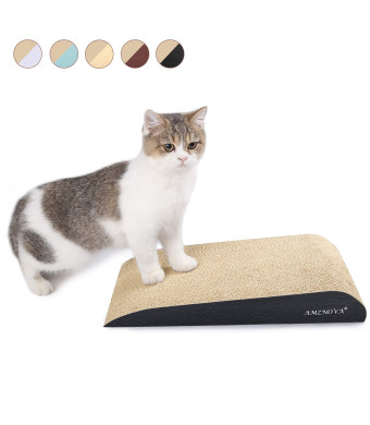 AMZNOVA Inclined Cat Scratchers Cardboard, Durable Kitty Scratching Pad, Cat Scratch Sofa Lounge with Bottom, Catnip Included