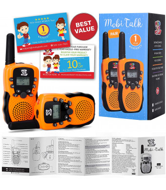 Walkie Talkies for Kids - (Vox Box) Voice Activated Walkie Talkies Toy for Kids, Two Way Radios Pair for Boys and Girls, Limited Edition Color Best Gift Long Range 3+ Miles Children's Walkie Talkie Set
