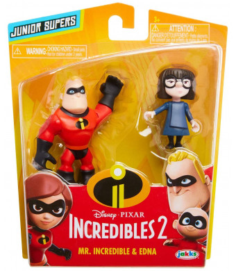 The Incredibles 2 Miniature 3-Inch Precool Mr Incredible and Edna 2-Pack Action Figures