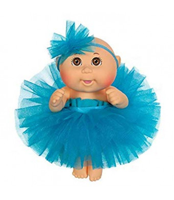 "cabbage Patch Kids - 9"" Tiny Newborn Baby Doll with Blue Tutu Dress and Headband"