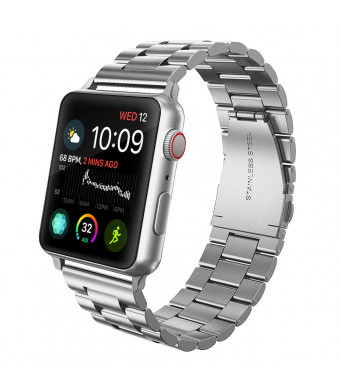 Mumba Compatible with Apple Watch Band 44mm/42mm, Premium Stainless Steel Metal Replacement Band for Apple Watch Series 4/3 / 2/1