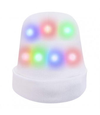 Hpory Light Up Hat for Kids Women Adult Flashing Light Hat LED Hat Soft White Rave Light for Halloween Christmas Birthday Party Gifts(LED Hat)
