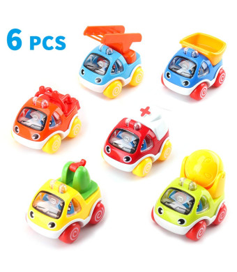 Amy and Benton Toy Cars for 1 Year Old Boy Pull Back Cars for Toddlers 2 - 3 Year Old Construction Vehicles Baby Birthday Gift Toys