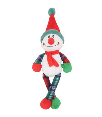 OFPUPPY Christmas Dog Snowman Toy Squeaky Paded Pet Plush Toy - Clown Style