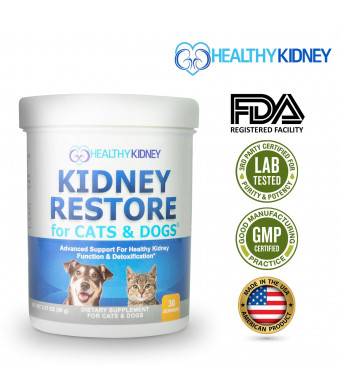 Cat and Dog Kidney Support, Natural Renal Supplements to Support Pets, Feline, Canine Healthy Kidney Function and Urinary Track. Essential for Pet Health, Pet Alive, Easy to Add to Cats and Dogs Food