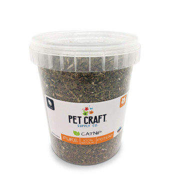 Pet Craft Supply Premium Potent Catnip - Usa Grown And Harvested Large 3Oz Resealable Cannister