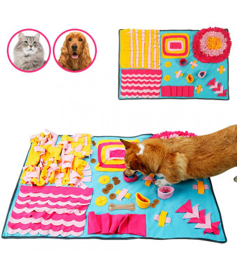 Snuffle Mat, Pet Snuffle Mat Pet Nose Work Blanket Non Slip Petroom Snuffle Mat for Small Large Dogs Cats.