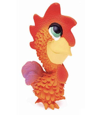 Rooster Sensory Dog Toy. 100% Natural Rubber (Latex). Lead-Free and Chemical-Free. Complies to Same Safety Standards as Children's Toys. Soft and Squeaky. Best Dog Toy for Medium and Puppy Dog.