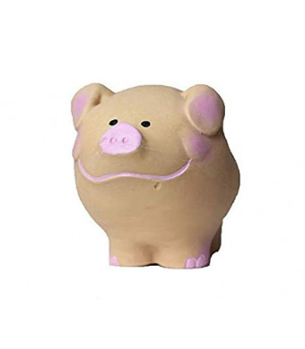 Small Pig for Small Dogs and Small Puppies, 100% Natural Rubber (Latex). Lead-Free and Chemical-Free. Complies to Same Safety Standards as Children's Toys. 3.5 inches.