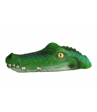 Large Squeaky Dog Toy Alligator 100% Natural Rubber (Latex). Lead-Free and Chemical-Free. Complies to Same Safety Standards as Children's Toys. Soft, unstuffed and Squeaky.