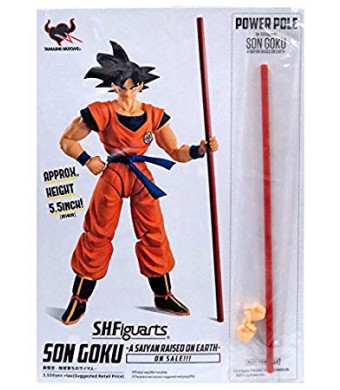 Bandai Tamashii Nations S.H. Figuarts Dragonball Z Goku Raised On Earth Power Pole SDCC 2018 Exclusive
