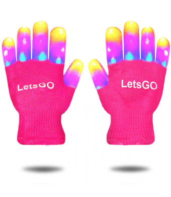 Cooco LED Flashing Gloves for Kids  Gifts Package