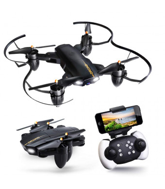 Drone with Camera, JoyGeek FPV Quadcopter RC Drone with Wi-Fi Camera 2.4GHz 4CH 6-Axis Gyro Foldable Toys for Kids and Beginners with APP Control Altitude Hold Headless Mode 3D FILP