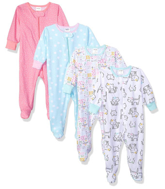 Onesies Brand Baby Girls' 4-Pack Sleep 'N Play
