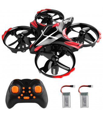 Mini Drone RC Nano Quadcopter Best Drone for Kids and Beginners RC Helicopter Plane 3D Flip, Headless Mode and Extra Batteries Toys for Boys and Girls