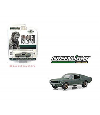 New DIECAST Toys CAR Greenlight 1:64 Hobby Exclusive Hollywood Steve McQueen Collection Unrestored 1968 Ford Mustang GT Fastback 44722