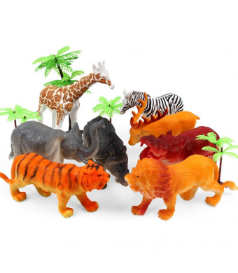 Jungle Animal Toys, Animal Toys, Animal Toys Figures,Animals Figures,Zoo Animal Figures Toddler Toy Set, Realistic Wild Animal,Learn Cognitive Toys Development Toys for Kids