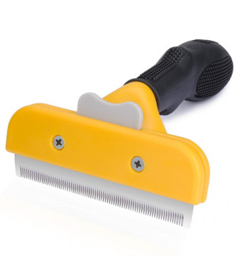RePind Deshedding Tool for Dogs Cats, Grooming Brush with Stainless Steel Blade and Fur Ejector Button Deshedding Comb for Long and Short Hair