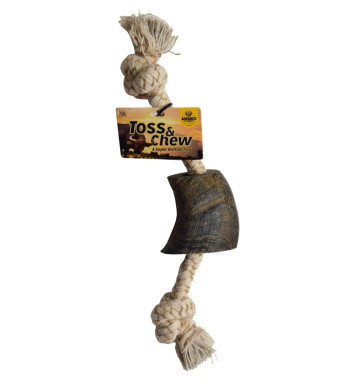 Advance Pet Products Buffalo Horn Rope Toy for Dogs