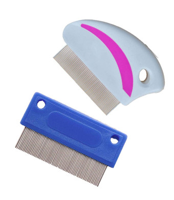 Tear Stain Remover Combs for Dogs, Gently and Effectively Removes Crust, Mucus, and Stains-Dog Comb- (2Pcs)