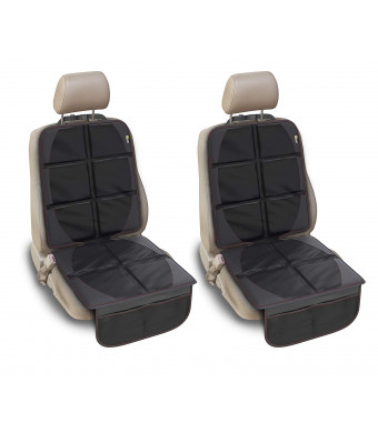 2 Pack - Premium Car Seat Protectors by Maison Crescent - XL universal cover guards rear seats - Black carseat Protector for car, truck, SUV upholstery - Thick waterproof pad/mat for Dogs, Baby, Kids