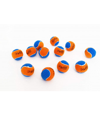 "Squeaky Mini Tennis Ball for Dogs 1.5""- Pack of 12 (Orange/Blue)"