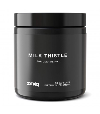 Ultra High Strength Milk Thistle Capsules - 25,000mg 50x Concentrated Extract - The Strongest Milk Thistle Supplement Available - 80% Silymarin - Liver Cleanse and Detox Support - 90 Capsules