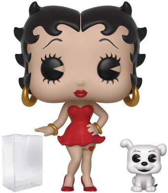Funko Pop and Buddy: Betty Boop - Betty with Pudgy Vinyl Figure (Bundled with Pop Box Protector Case)