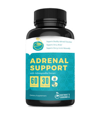 Premium Adrenal Support Supplements and Cortisol Manager to Support Adrenal Fatigue, Cortisol Calm and Anxiety Relief with Ashwagandha, L-Tyrosine, Licorice Root, Rhodiola and Other Adaptogenic Herbs