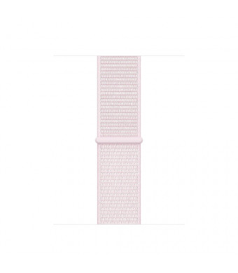 METEQI Replacement Bands Compatible for Apple Watch 38mm 40mm 42mm 44mm, Soft Lightweight Breathable Sport Loop Straps Compatible for iWatch Series 4/3/2/1 (42mm/44mm, Pearl Pink)