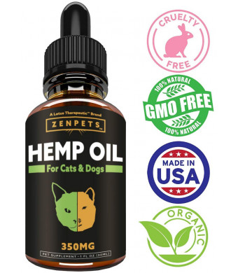 Lotus Therapeutics Oil for Dogs for Pain Relief Dog Anxiety Relief - Natural Oil for Pets - Stress Relief Essential Oil and Anxiety Relief Supplements - 350mg