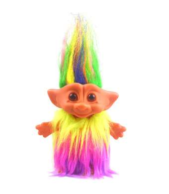 """Vintage Troll Dolls, Lucky Doll Chromatic Adorable for Collections, School Project, Arts and Crafts, Party Favors - 7.5"""" Tall(Include The Length of Hair)"""