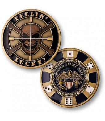 U.S. Navy Feelin' Lucky Challenge Coin
