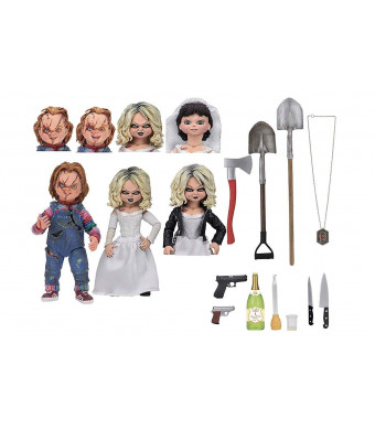 """NECA - Bride of Chucky - 7"""" Scale Action Figure - Ultimate Chucky and Tiffany 2-Pack"""