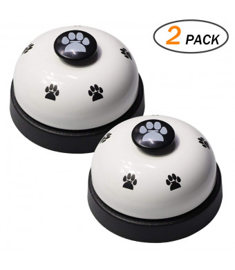 Pet Training Bells Dog Cat Door Bell Set of 2 for Potty Training and Communication Device Pew Print Interactive Toys