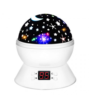 DIMY Best Top Popular Toys for 2-10 Year Old Boys Girls, Multicolor Projector Star Night Lights for Kids Fun Party Favor Popular Hot Birthday Gifts for 2-10 Year Old Girls Boys White DMUSS1