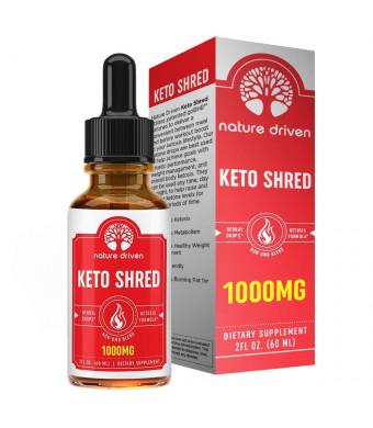 Shark Tank Keto Shred Drops - 1,000mg Of goBHB!! Boost Metabolism and Energy - Carb Blocker and Appetite Suppressant - For Men and Women - Lemon Lime Flavor - Ketosis Fat Burner