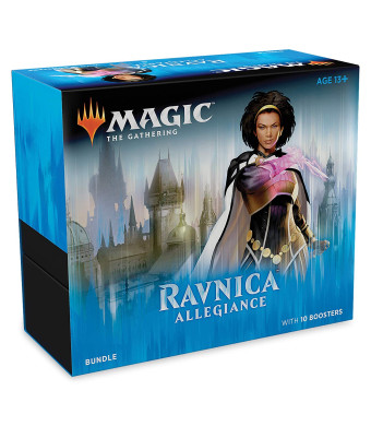 Magic: The Gathering Ravnica Allegiance Bundle | 10 Booster Pack + Land Cards (230 Cards) | Accessories