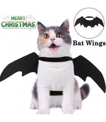 Halloween Costumes Pet Bat Wings for Cats Dogs Halloween Party Decorations Kitten Cosplay Toys Christmas Dress Up Puppy Small Medium Clothes Pet Bat Costume Black Vampire Wings Outfit Apparel Set