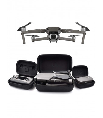GoScope Mavic 2 Go Case: Compatible with Mavic 2 Pro and Mavic 2 Zoom - Adventure/Travel Water-Resistant Nylon Hard Case - DJI Mavic 2 Zoom/Pro Hard Case for Aircraft Body, Controller, and Battery